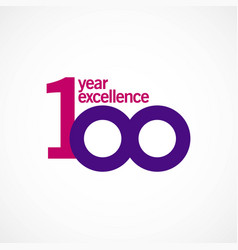 100 year anniversary excellence template design vector