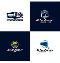 Air condition logo concept technology device for vector