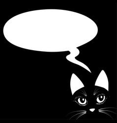 Animal cat head think bubble icon vector