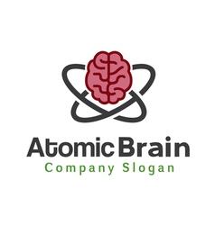 Atomic Brain Design vector