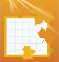 Autumn school background vector image