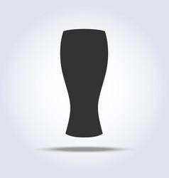 Beer glass goblet object in gray colors pilsner vector