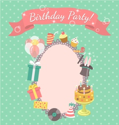 Birthday Party Invitation Card vector