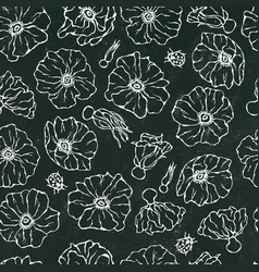 black board background seamless pattern vector image