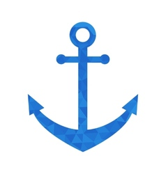 Blue mosaic anchor vector