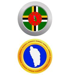 button as a symbol DOMINICA vector image