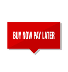 Buy now pay later red tag vector