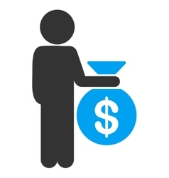 Child investor icon vector