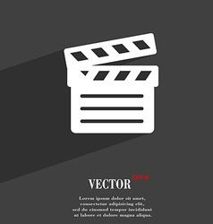 Cinema Clapper icon symbol Flat modern web design vector image