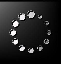 circular loading sign gray 3d printed vector image