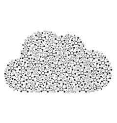Cloud composition of connection links icons vector