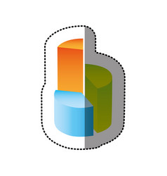 color circular statistic with levels icon vector image