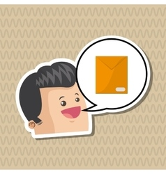 Communication design Social media icon mail vector image