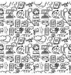 Contact us icons sketch vector