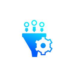 Conversion rate optimization marketing icon vector