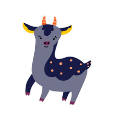 cute cartoon deer icon vector image