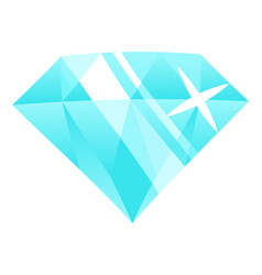 diamond blue brilliant precious stone gemstone vector image