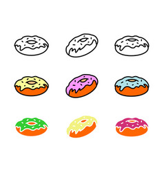donut icon symbol logo icon template ready for use vector image