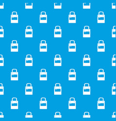 eco bag pattern seamless blue vector image