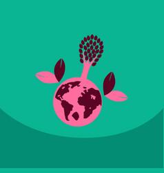 eco friendly green energy concept vector image