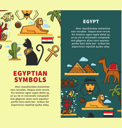 Egypt symbols travel company promotional vertical vector