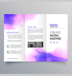 Elegant watercolor trifold brochure design vector