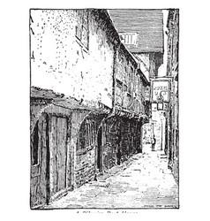English inn vintage vector