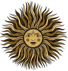 Esoteric vintage sun vector