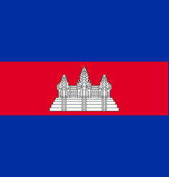 Flag of cambodia official colors and proportions vector