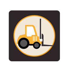 Forklift vehicle isolated icon vector