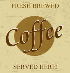 Fresh brewed coffee vector image