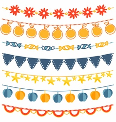 Garland set vector image
