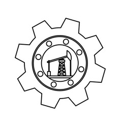 Gear industrial piece vector
