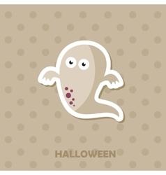 Ghost icon Halloween sticker vector image