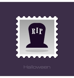 Halloween grave stamp vector