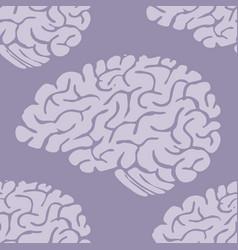 hand drawn brain seamless pattern background vector image