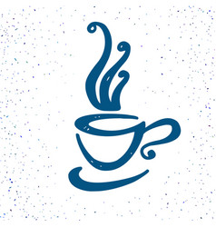 hand drawn doodle cup of coffee vector image