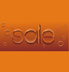 hand-drawn thin gold sale lettering vector image