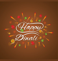 Happy diwali card design vector