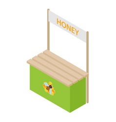 honey kiosk icon isometric style vector image