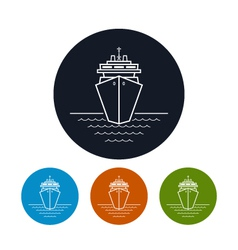 Icon cruise ship or carrier vector image