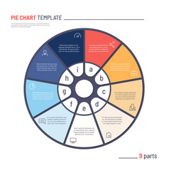 infographic circle chart template nine vector image