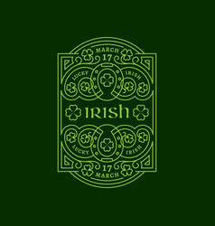 Irish label vector