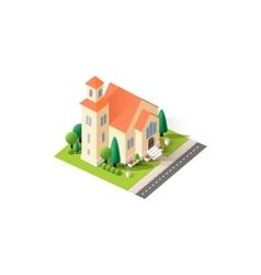 isometrics church vector image