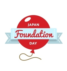 Japan Foundation Day greeting emblem vector