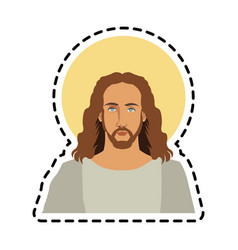 Jesus christ icon image vector