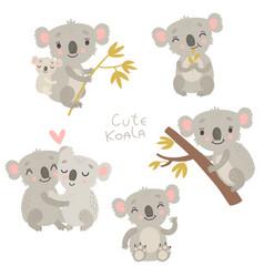 Koala set vector