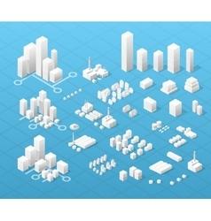 Large modern city vector