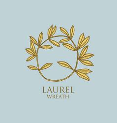 logo ancient greece antique symbol laurel vector image