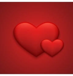 modern red valentines day background vector image